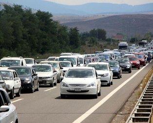 TEMin Bolu geçişinde 35 kilometrelik araç kuyruğu