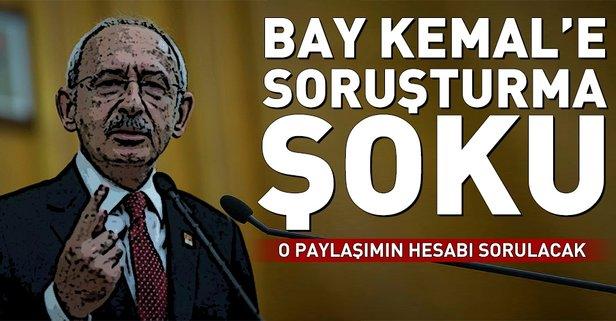 Kemal Kılıçdaroğlu'na pankart soruşturması
