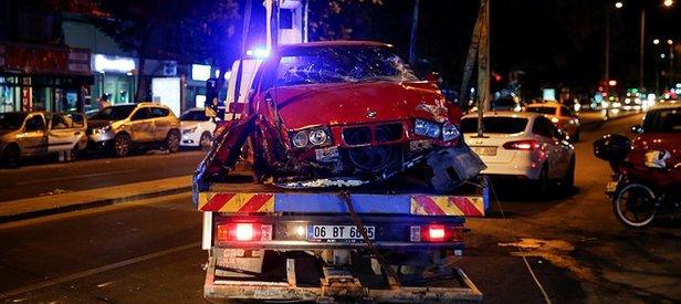 Kontrolden çıktı dükkana daldı! Ankara'da feci kaza