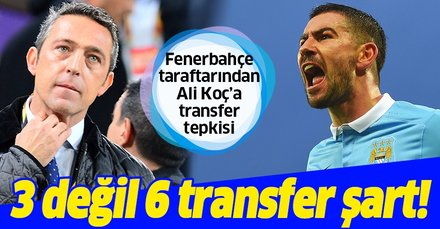 Fenerbahçe taraftarından '2-3 oyuncu alacağız' diyen Ali Koç'a tepki: 3 değil 6 transfer şart