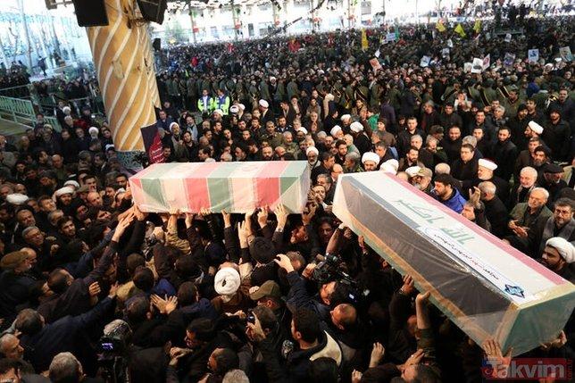 Kasım Süleymani'nin cenaze töreninde dikkat çeken detay! Rus komutanlar...
