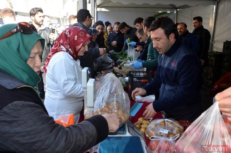 Vatandaşlar tanzim satışına akın etti