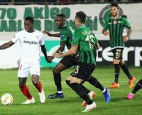 Akhisarspor sahasında Sevilla'ya 3-2 kaybetti