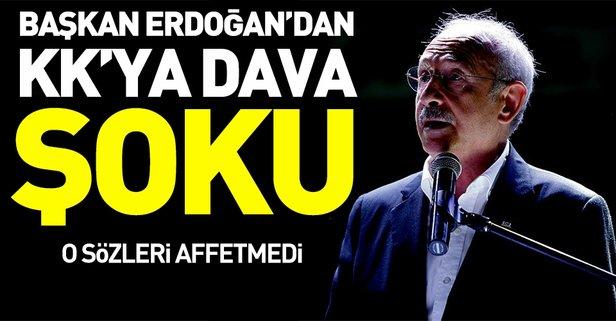 Erdoğandan Kılıçdaroğluna dava