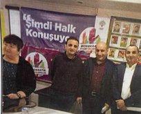 CHP'de bir skandal daha! PKK paçavrası önünde poz vermiş