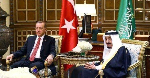 Cumhurbaşkanı Erdoğan Kral Selmanla görüştü
