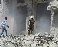 İdlib'te sivillere saldırı anı kamerada!