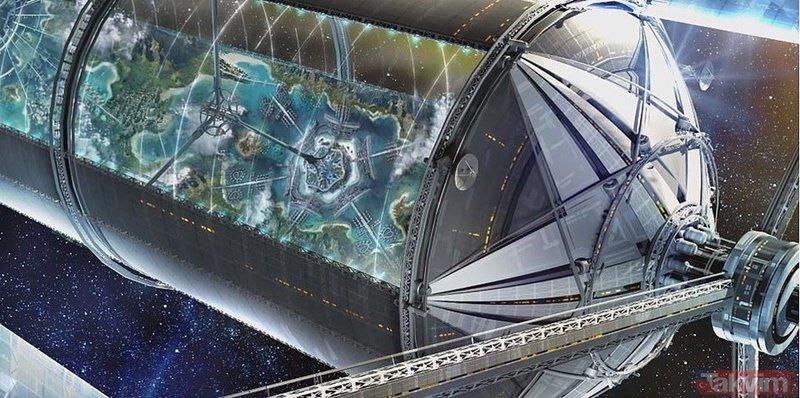 Dünyanın en zengin adamı Ay'a uzay aracı göndermeyi hedefliyor! İşte yüzen uzay kolonileri modelleri