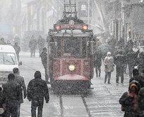 İstanbul'a kar ve 'turuncu' uyarı