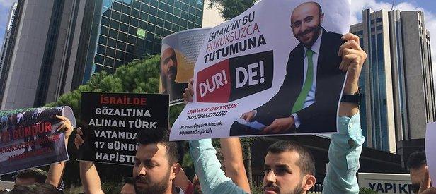 İsrailin gözaltına aldığı Türk serbest bırakıldı