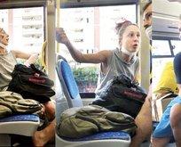 Otobüste çirkin saldırı! Yolcuların üstüne öksürdü, tehdit etti...