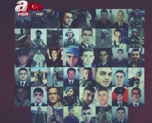 Afrinde şehit düşen 46 kahramanımızı rahmetle anıyoruz