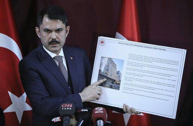 Bakan Kurum'dan flaş Kartal açıklaması 8 bina daha yıkılacak…