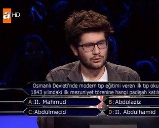 Milyoner'de 60 bin TL'lik Osmanlı sorusu!