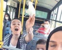 Maskeyı çıkardı yolculara saldırdı