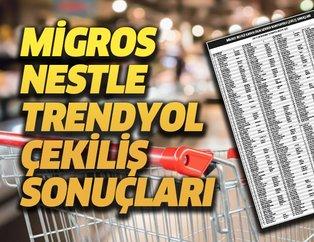 Migros Nestle Trendyol hediye çeki çekiliş sonuçları isim listesi açıklandı! İşte 200 TL hediye çeki kazananlar