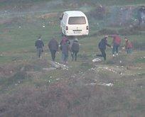 Mangal yakanlar, polisi görünce kaçtı
