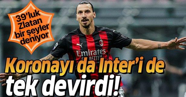 Ibrahimovic koronavirüsü de Inter'i de devirdi!