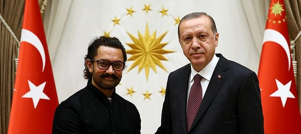 Cumhurbaşkanı Erdoğan Aamir Khanı kabul etti