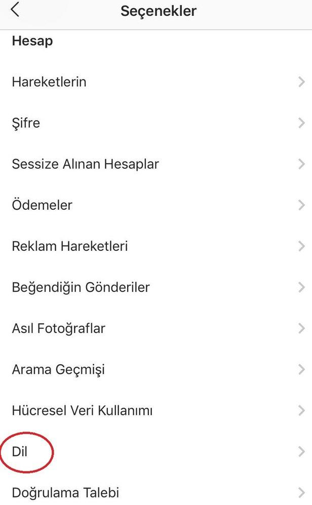 Instagram Ingilizce Oldu Instagram Dili Türkçe Nasıl Yapılır
