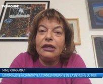 Mine Kırıkkanat Fransız televizyonuna konuştu