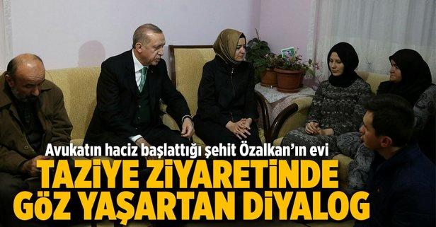 Cumhurbaşkanı Erdoğandan taziye ziyareti