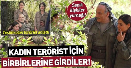 Sapık ilişkiler yumağı! PKK'nın elebaşları kadın terörist için birbirine girdi