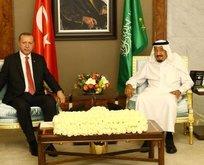 Başkan Erdoğan, Suudi Arabistan Kralı ile görüştü