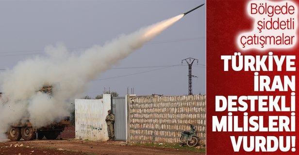 Türkiye İran destekli milisleri vurdu!