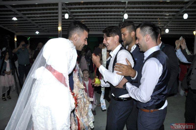 50 metrelik düğün takısı görenleri şaşkına çevirdi