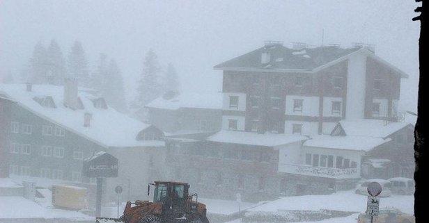 Uludağ'da kar sürprizi