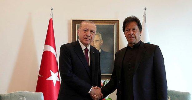 Başkan Erdoğan'dan Pakistan'da kritik görüşme