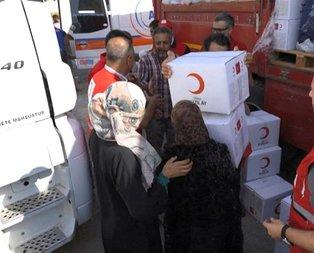 Kızılay'dan Telabyad'da 1500 Suriyeli aileye yardım