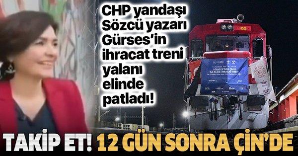 CHP yandaşı Sözcü'nün yazarı Özlem Gürses'in çektiği tren videosu dalga  konusu oldu! - Takvim