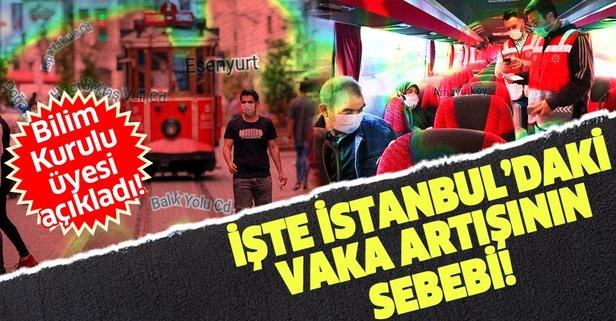 İstanbul'daki vaka artışının sebebini açıkladı!