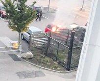 Göteborg'da araçlar yakıldı