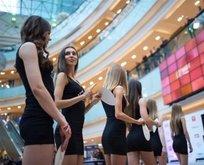 Moskovada güzellik yarışması seçmelerinden ilginç kareler
