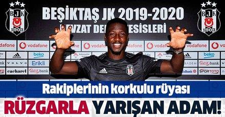 Beşiktaş'ın yeni transferi Diaby süratiyle rakiplerin korkulu rüyası