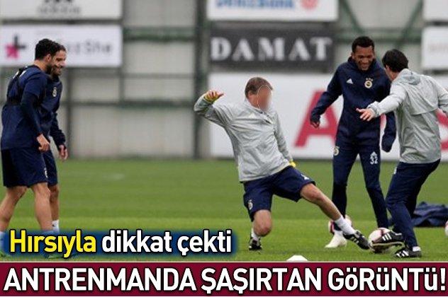 Fenerbahçe antrenmanında dikkat çeken görüntü