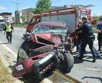 Bursa'da feci kaza! Kontrolden çıktı dehşet saçtı