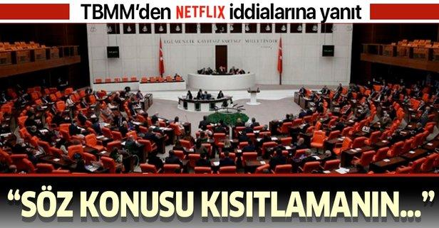 TBMM'den 'Netflix' iddialarına yanıt!