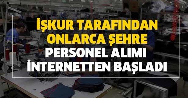 İŞKUR tarafından onlarca şehre personel alımı internetten başladı