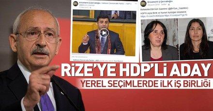 CHPnin Fındıklı Belediye Başkan adayı Ercüment Çervatoğlu HDPli çıktı