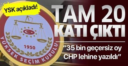 İstanbul'da şüpheli oy sayısı 300 binden fazla   35 bin geçersiz oyun CHP'ye yazıldığı tespit edildi