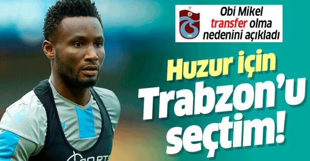 Huzur için Trabzon'u seçtim