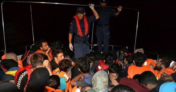 Balıkesir'de 46 düzensiz göçmen yakalandı