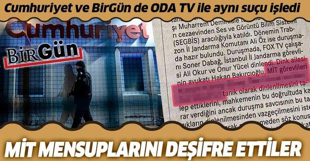 Birgün ve Cumhuriyet de ODA TV ile aynı suçu işledi