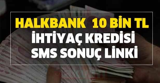 Halkbank aylık 376 TL taksitle 10 bin TL kredi yattı mı?