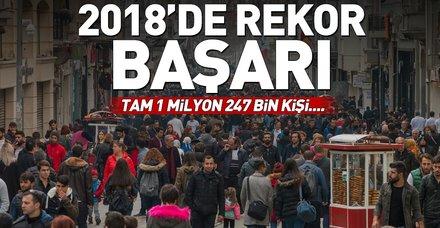 İŞKUR 2018'de istihdam rekoru kırdı! Bakan Selçuk duyurdu