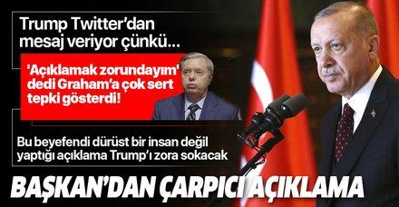 Son dakika: Başkan Erdoğan'dan çarpıcı Trump yorumu: Tweet atıyor çünkü...